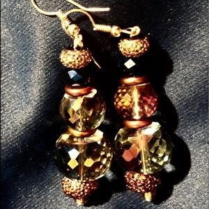 Earrings with Trillion Cut Crystals Color Changes